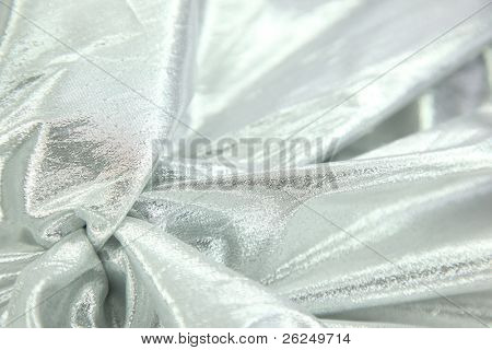 silver lame fabric background