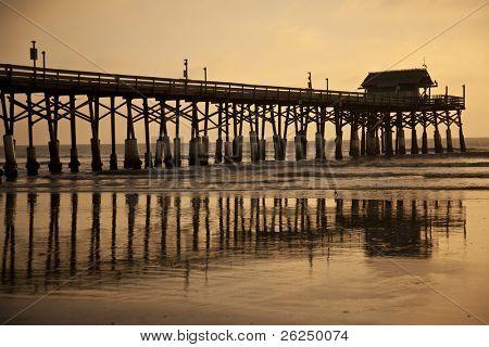 Historic fishing pier at Cocoa Beach, Florida