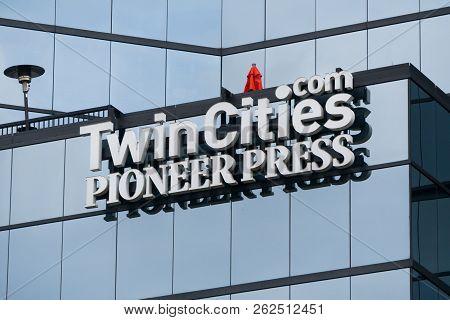 St. Paul Pioneer Press Headquarters And Logo