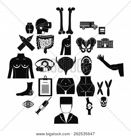 Dissection Icons Set. Simple Set Of 25 Dissection Vector Icons For Web Isolated On White Background