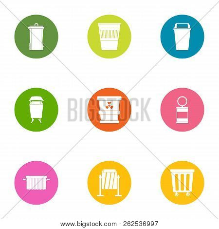 Scavenger icons set. Flat set of 9 scavenger vector icons for web isolated on white background poster
