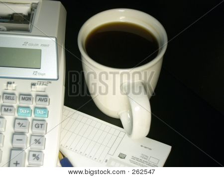 Calculator And Coffee Cup 5