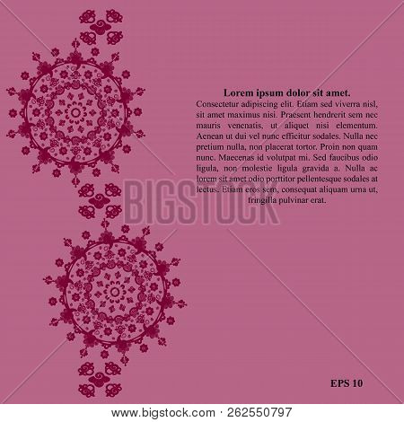pink template round vector photo free trial bigstock