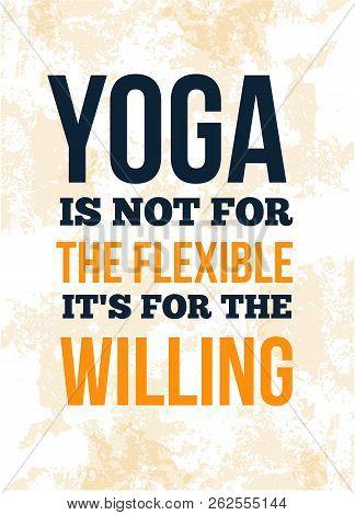 Yoga Quote Poster Motivational Design. Postcard, Card For Spa Salon