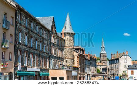 Towers In Saint-flour, A Town In The Cantal Department Of France