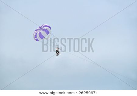 two paratroopers on the wire