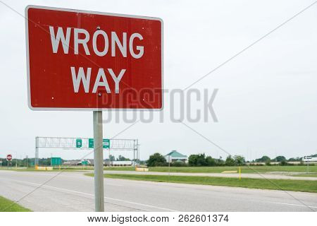 Interstate Highway Road Sign Reading