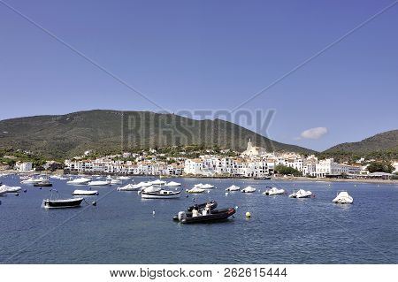 Quadaques, Spain - September 6, 2018: Panorama Of The Village Of Cadaques In The Spanish Region Of C