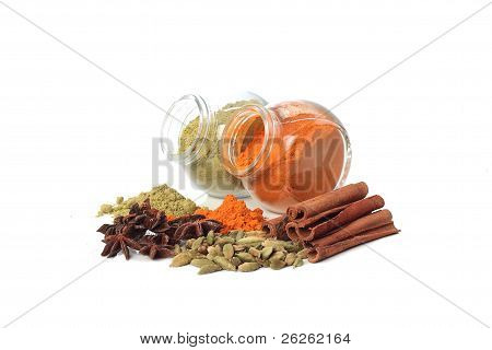 Various Colorful Spice