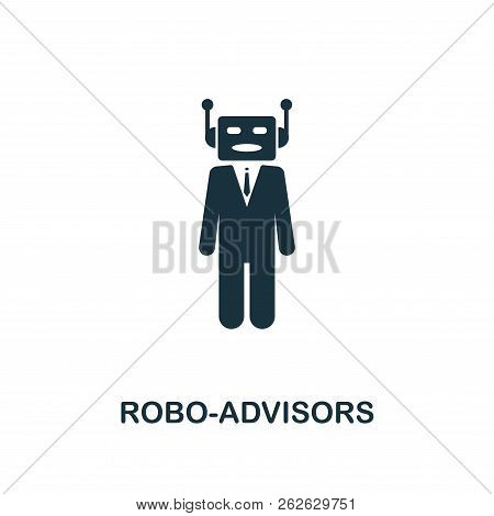 Robo-advisors Icon. Monochrome Style Design From Fintech Icon Collection. Ui And Ux. Pixel Perfect R