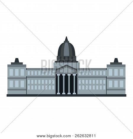 National Congress Building, Argentina Icon Flat Isolated On White Background Illustration