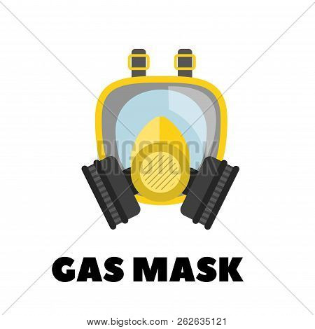 Vector Gas Mask Icon Vector On White Background