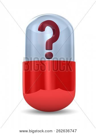 unknown capsule on white background. Isolated 3D illustration