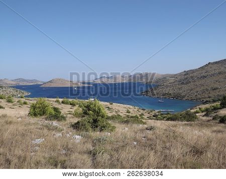 View On National Park Kornati From Nature Park Telascica On Dugi Otok, Dalmatia, Croatia
