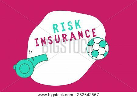 Conceptual Hand Writing Showing Risk Insurance. Business Photo Showcasing The Possibility Of Loss Da