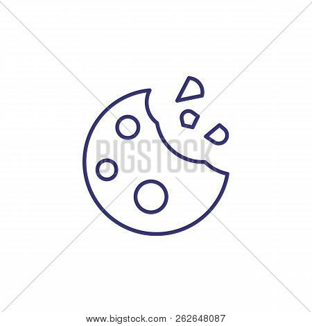 Raisin Cookie Line Icon. Bisquit, Dessert, Snack. Baking Concept. Vector Illustration Can Be Used Fo