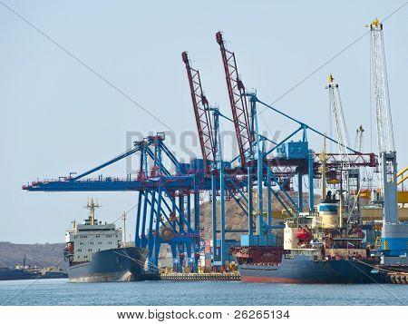 terminal at russian cargo port Vladivostok