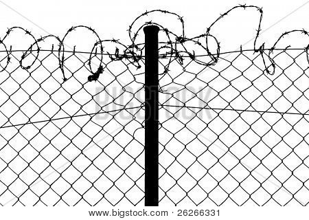 fence with barbed wire poster