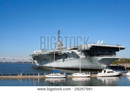 USS Yorktown Aircraft Carrier in Charleston, South Carolina