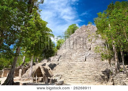 La Iglesia (The Church) Pyramid, Coba, Quintana Roo, Mexico