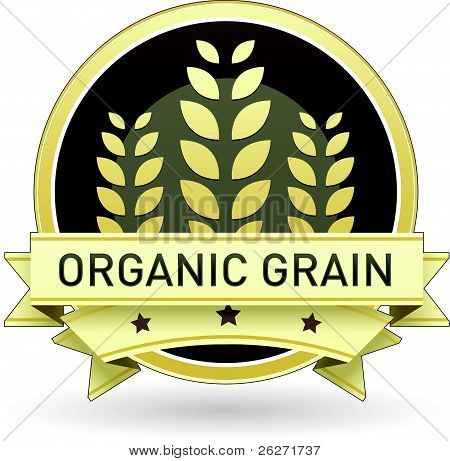 Organic grain food label