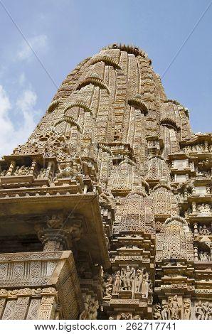 Kandariya Mahadev Temple, Shikara - Closeup, Western Group, Khajuraho, Madhya Pradesh, India, Unesco