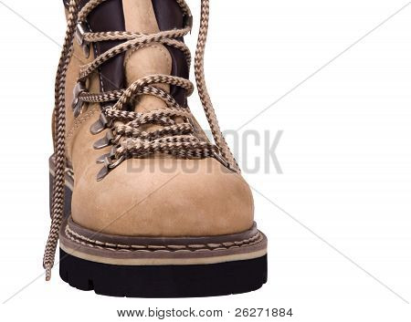 Hiking Boot Isolated On White Background