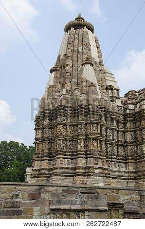 Devi Jagdamba, Shikara - Closeup, Western Group, Khajuraho, Madhya Pradesh, India Unesco World Herit