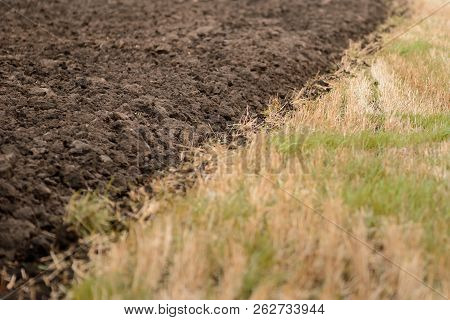 Agricultural Field, Arable Land, Plowed Field, Cultivation Of Land. Natural Background