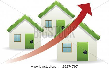 House prices trend up