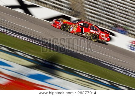 FORT WORTH, TX - NOV 06:  Jamie McMurray (1) brings his race car down the frontstretch during practice for the AAA Texas 500 race on NOV 6, 2010 at the Texas Motor Speedway in Fort Worth, TX.