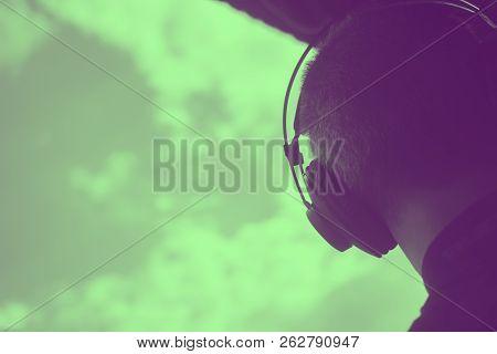 Dj Deejay Producer Wearing Headphones