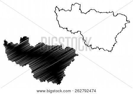Vladimir Oblast (russia, Subjects Of The Russian Federation, Oblasts Of Russia) Map Vector Illustrat