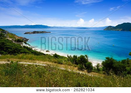 Nostra Senora beach in Islas Cies islands of Vigo at Spain