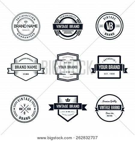 Vintage Badges Logo Template Vector Set. Vintage Logo Design
