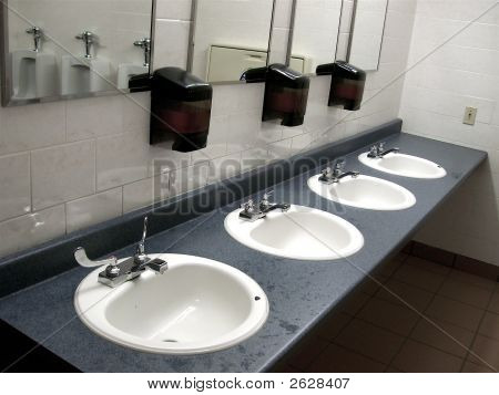 Bathroom Public Sinks