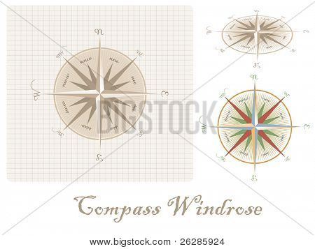 old style compass wind-rose