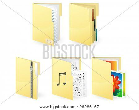 5 extra-large icon of document folders