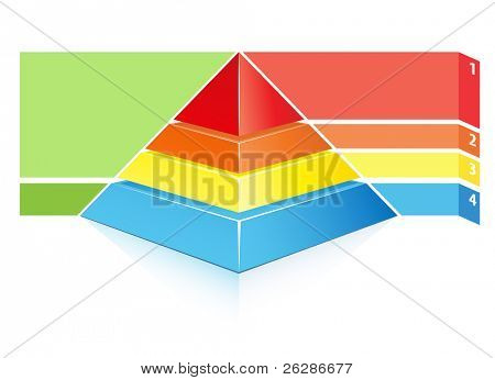 detailed layered hierarchical pyramid illustration with place for your text