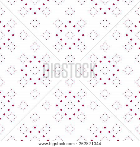Subtle Red And White Minimalist Dotted Seamless Pattern, Delicate Vector Texture In Asian Style. Ele