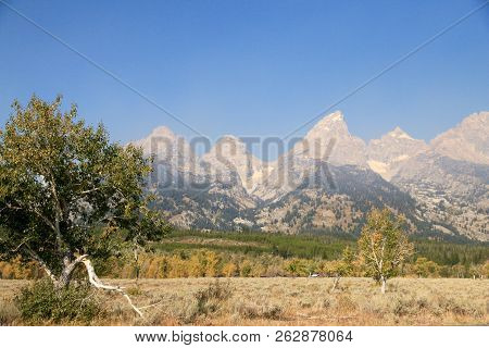 Grand Teton Mountains At Grand Teton National Park In Wyoming
