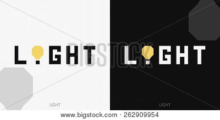 Logo Yellow Light. Typography. Identity Logotype. Brand Mark. Brand Design. Wordmark Design. Visual