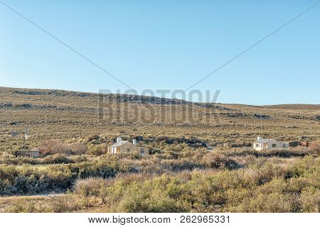Sutherland, South Africa, August 8, 2018: The Rooikloof Self-catering Cottages Near Sutherland In Th