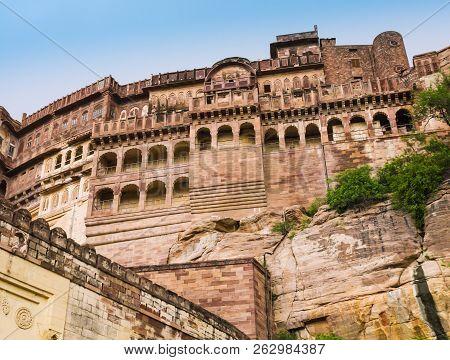Impressive Maharajah Palace In  Mehrangarh Fort, Jodphur, Rajasthan, India