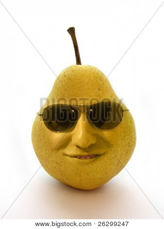 pear with face