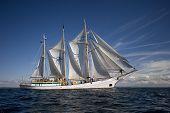 huge sailing boat at sea poster