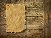 Old wood texture background Wild West style poster