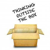 Thinking outside the box poster
