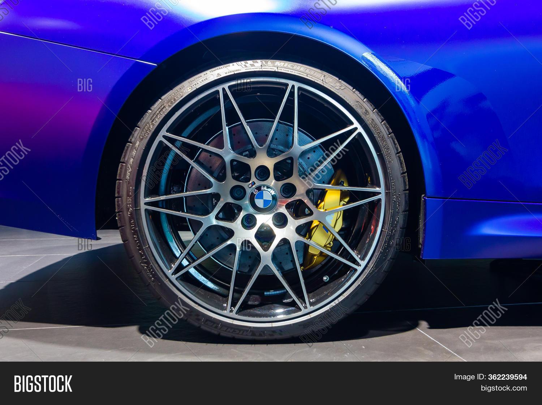 Bmw M4 Wheel Michelin Image Photo Free Trial Bigstock