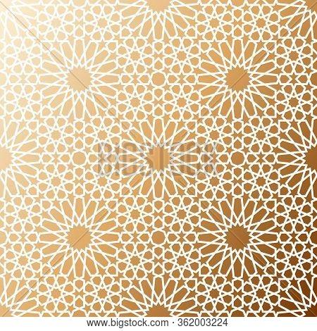 Arabic Islamic Eastern Oriental Traditional Seamless Pattern. Girih Ornament Moroccan Mosaic Tile. A